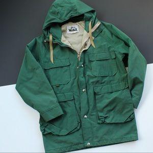 Vintage Woolrich Heavy Reflective Rain coat